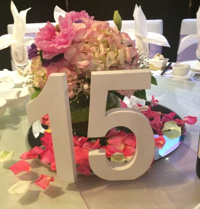 white table numbers
