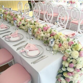 Pink and White Christening