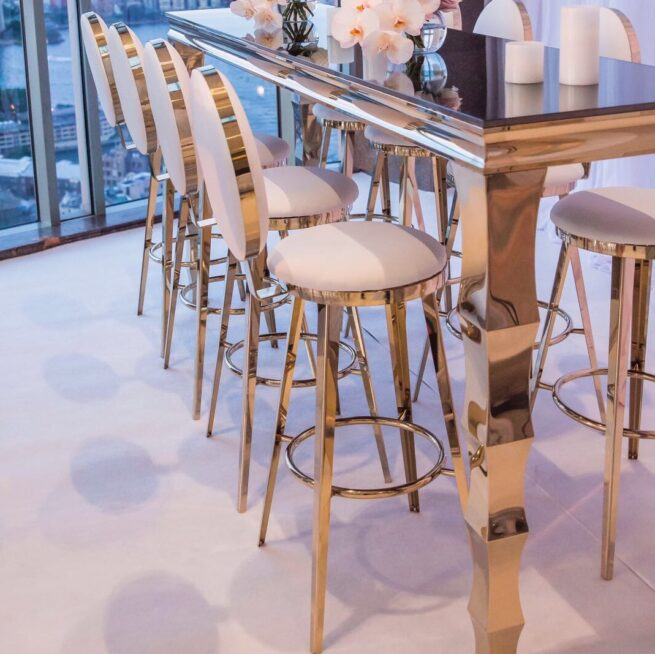 Round Back Bar Stool
