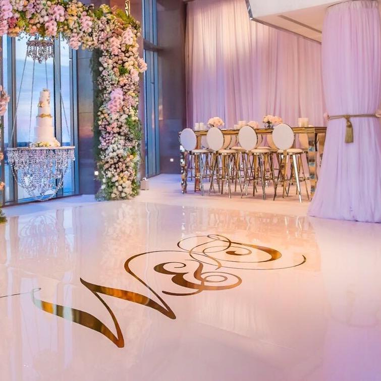 Super Gloss White Dance Floor Surface
