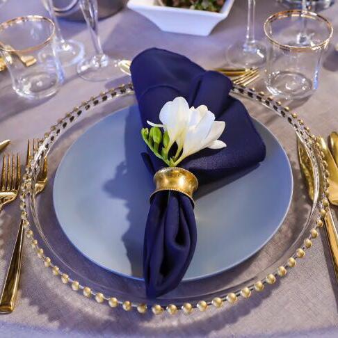 Blue Grey Ceramic Plate