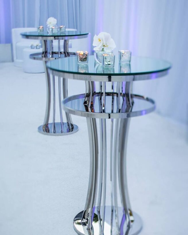 Silver Ada bar tables