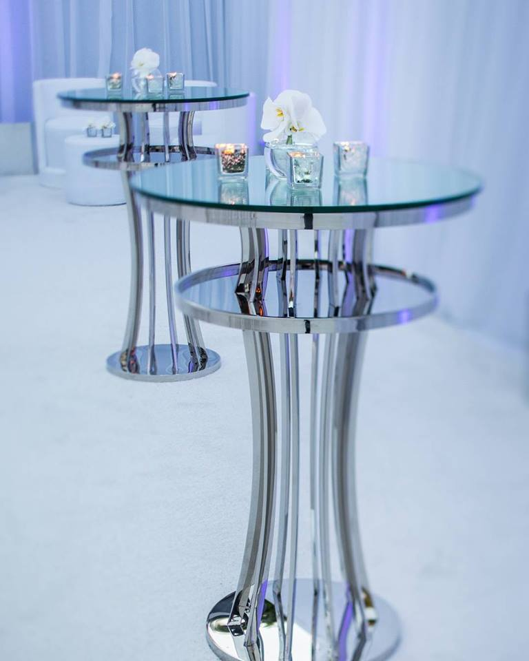 Silver Ada bar tables