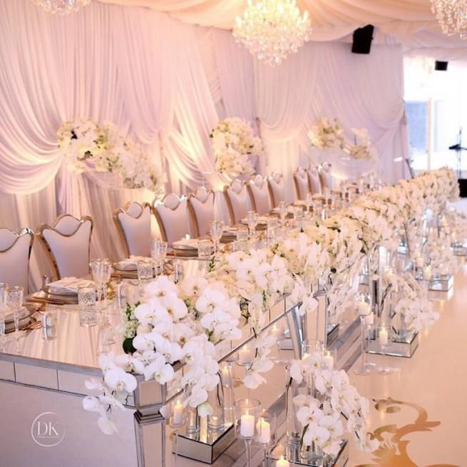 Lux mirror bridal table