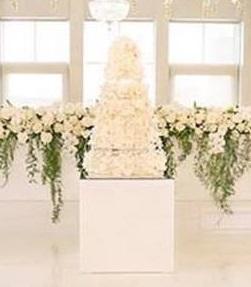 White Gloss Cake Table
